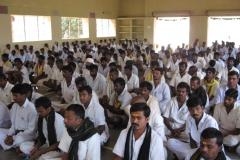 Prisoners being taught as part of Sabarmati Sangeeth