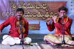 Violin Vasu and Flute Phani at the Annamacharya Jayanthi Utsavam