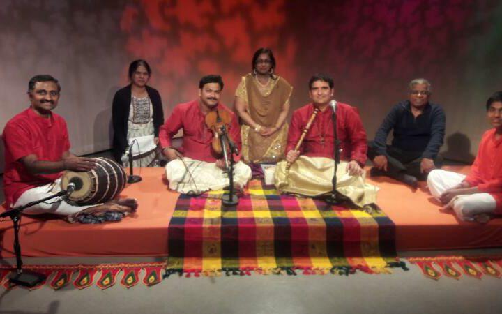 At Swaralahari Concert Shoot at California USA