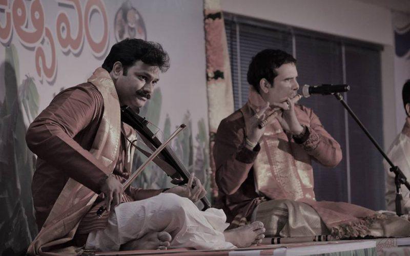 Violin Vasu and Flute Phani at the Ugadi Utsavam